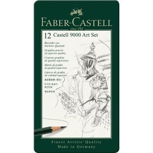 Set 12 creioane Castell 9000