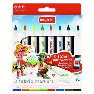 Set 8 carioci textile Bruynzeel Fabric Markers