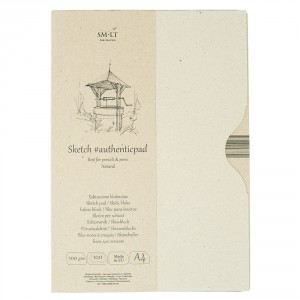 Bloc desen Sketch pad Authentic Natural 100x100gr A4