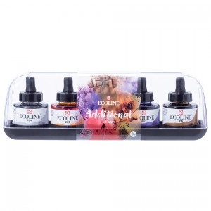 Set acuarele lichide Talens Ecoline Additional 5 x 30ml.