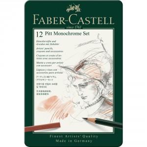 Set Faber-Castell Pitt Monochrome 12 piese 112975