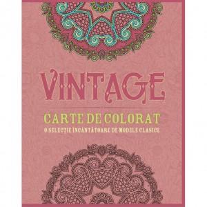 Carte de colorat - Vintage