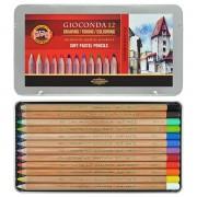 Set 12 creioane colorate Gioconda