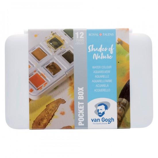 Set acuarele Van Gogh Pocket Box Metallic & Interference