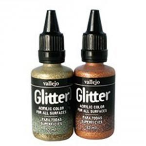 Culori cu sclipici Vallejo Glitter