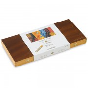 Set 50 pasteluri grase Sennelier in caseta din lemn