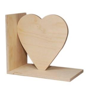 Inima din placaj pe suport