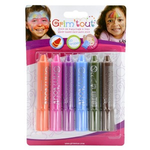 Set 6 markere pictura pe fata - Sky Rainbow