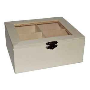 Cutie din lemn cu 4 compartimente 355172