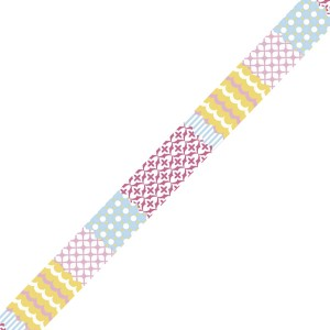 Banda adeziva textila Pastel Mix
