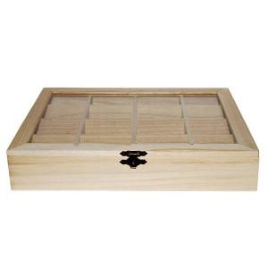 Cutie din lemn cu 16 compartimente