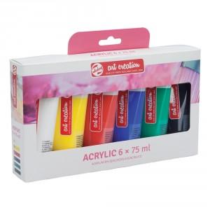 Set 6 culori acrilice Art Creation 75ml