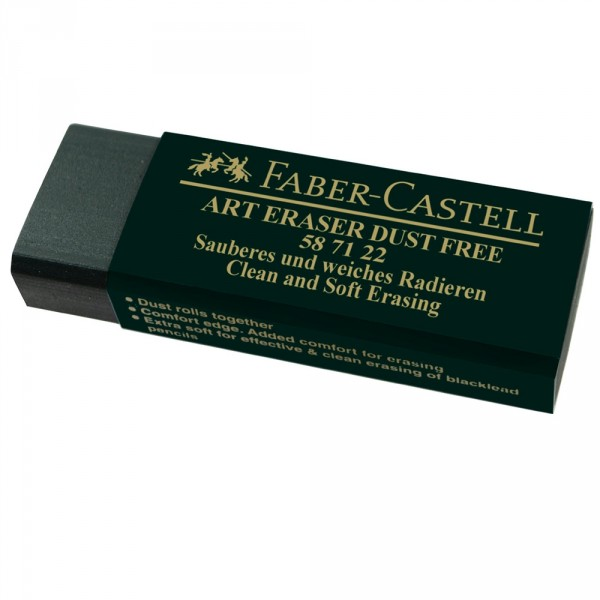 Radiera Dust Free 20 Verde Faber-Castell