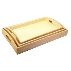 Set 3 tavi din lemn cu manere 355067