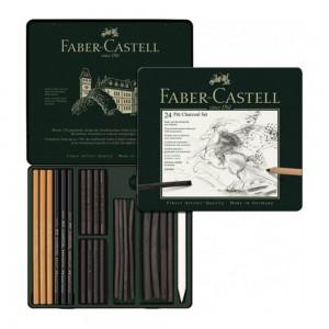 Set desen Faber Castell Pitt Monochrome Carbune 24