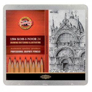 Set 24 creioane Koh I Noor Art Collection