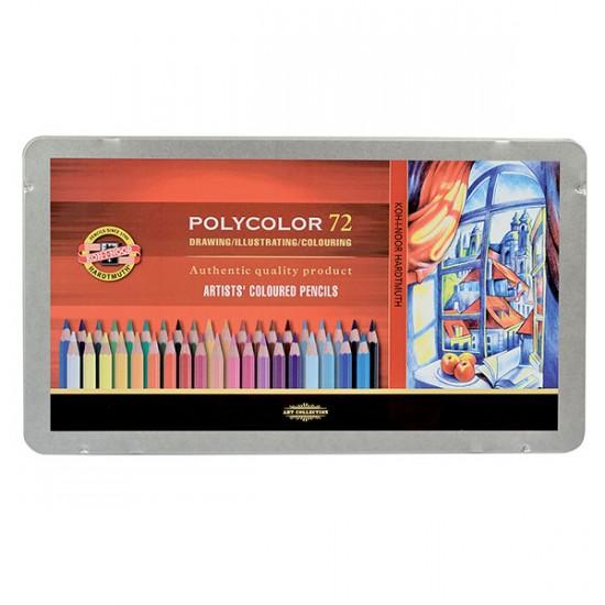 Set creioane colorate Polycolor 72 culori