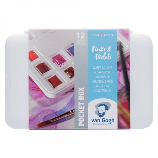Set acuarele Van Gogh Pocket Box Pinks and Violets