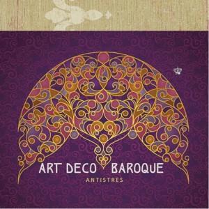 Carte de colorat Art Deco Baroque