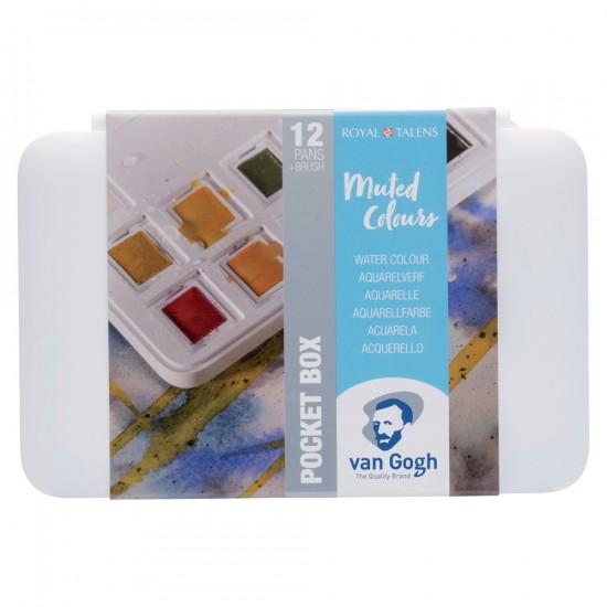 Set acuarele Van Gogh Pocket Box Muted Colours