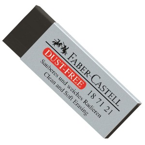 Radiera neagra Dust Free Faber Castell