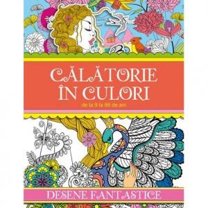 Carte de colorat Calatorie in Culori - Desene Fantastice