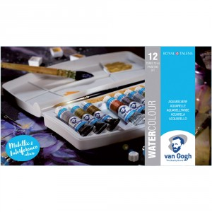 Set acuarele Van Gogh Metallic & Interference 12x10ml