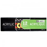 Set 12 culori acrilice campus 21 ml.