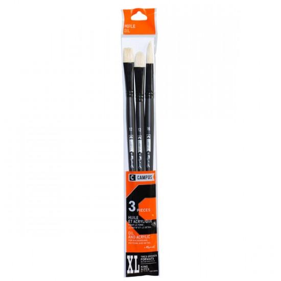 Set 3 pensule Raphael Oil XL