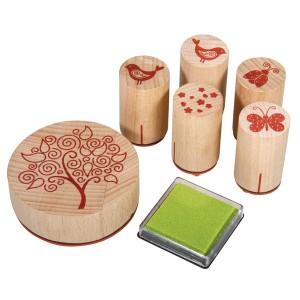 Set cu 6 stampile decorative - rasarit