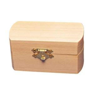 Cutie din lemn semi-rotunda