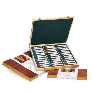 Set 36 pasteluri grase Sennelier in caseta din lemn