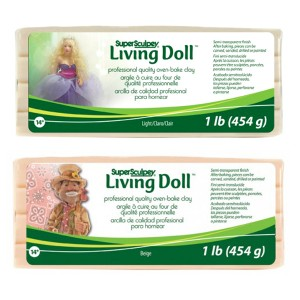 Pasta polimerica Sculpey Living Doll - Beige