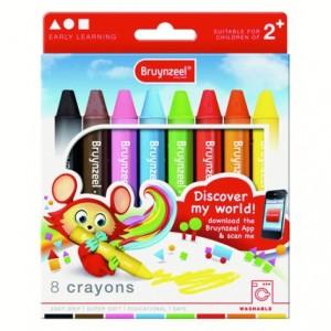 Set 8 creioane cerate Bruynzeel Crayons