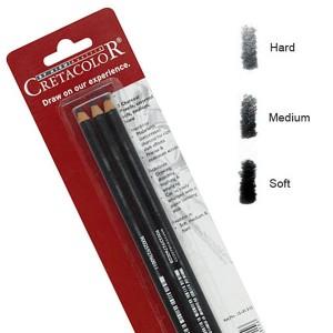 Set 3 creioane carbune