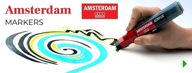 Carioci cu vopsea acrillica Amsterdam