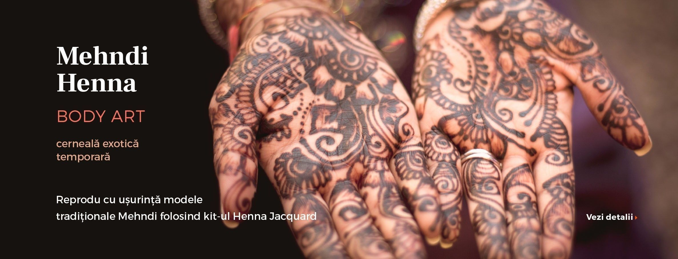 Tatuaje tempoarare cu Henna Jacquard Kit
