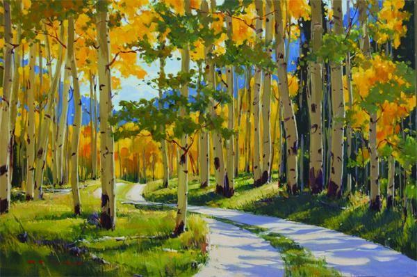 Cum sa pictezi un peisaj cu acrilice?