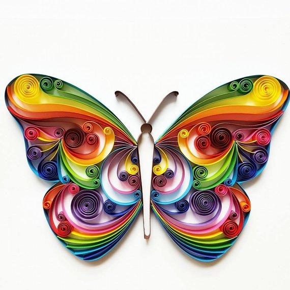 fluture tehnica quilling