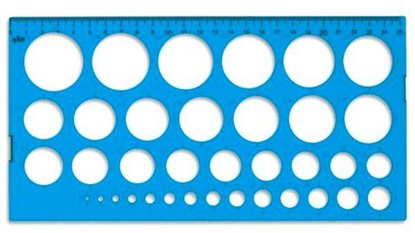 sablon pentru quilling plastic albastru