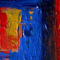 pictura cu rosu si albastru